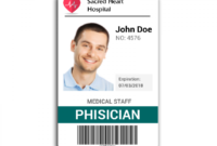 Doctor Id Card #2 | Id Card Template, Badge Template for Personal Identification Card Template