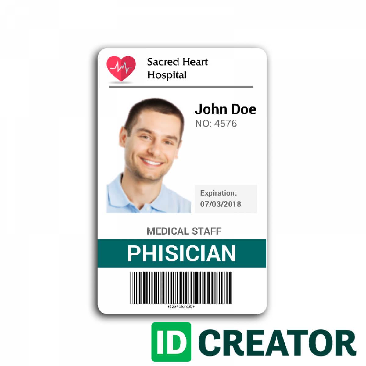 Doctor Id Card #2   Id Card Template, Badge Template Regarding Hospital Id Card Template