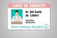 Doctor Id Card inside Doctor Id Card Template