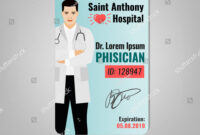 Doctors Id Card Hospital Logo Phisician Stock Image within Hospital Id Card Template