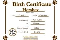 Dog Certificate Template – Zimer.bwong.co inside Service Dog Certificate Template