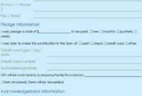 Donation Form Template | Excel & Word Templates within Donation Cards Template