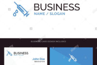 Dope, Injection, Medical, Drug Blue Business Logo And pertaining to Dope Card Template