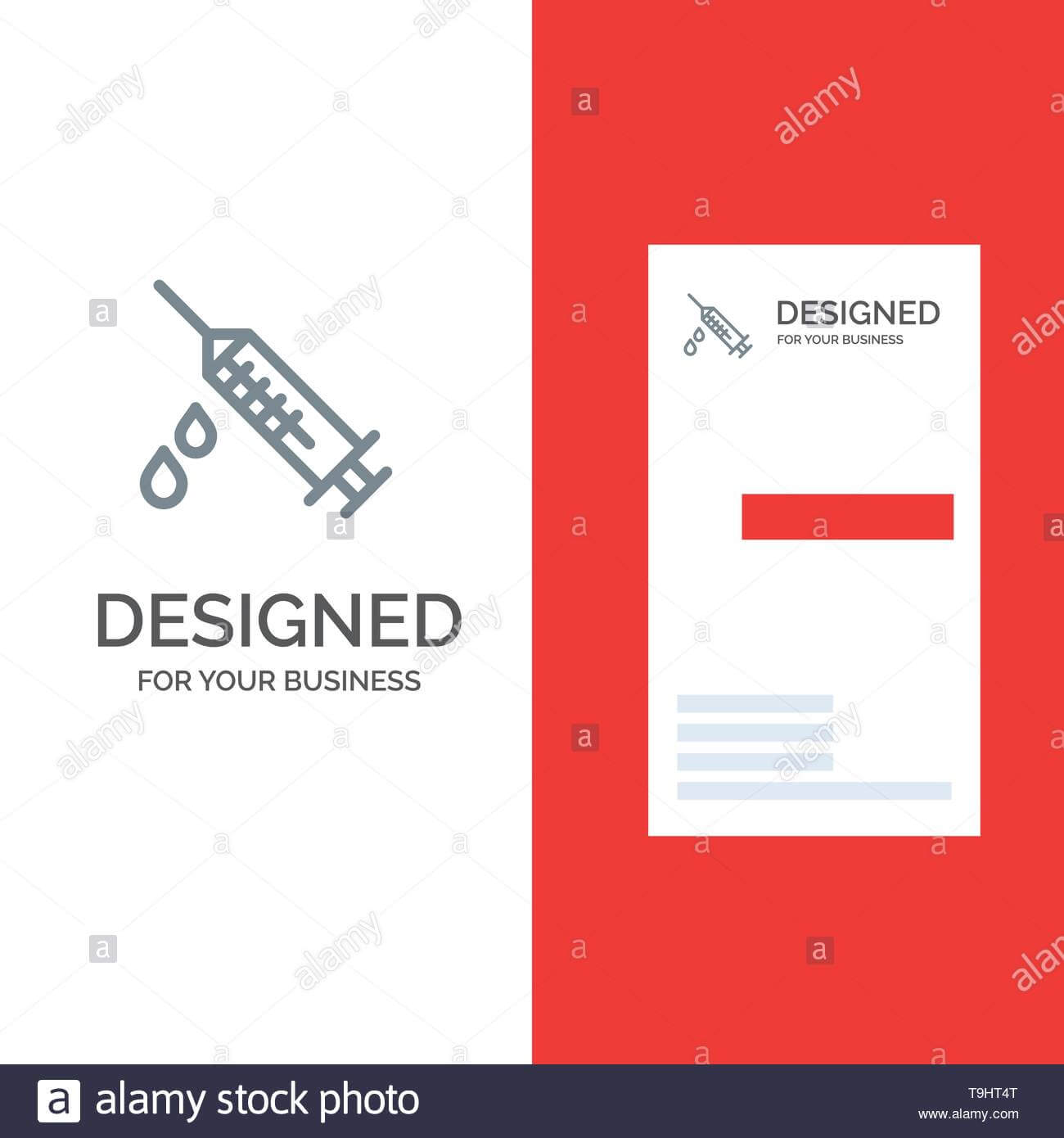 Dope, Injection, Medical, Drug Grey Logo Design And Business With Dope Card Template
