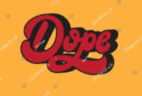 Dope Vector Handwritten Lettering Made 90S Stock Vector inside Dope Card Template