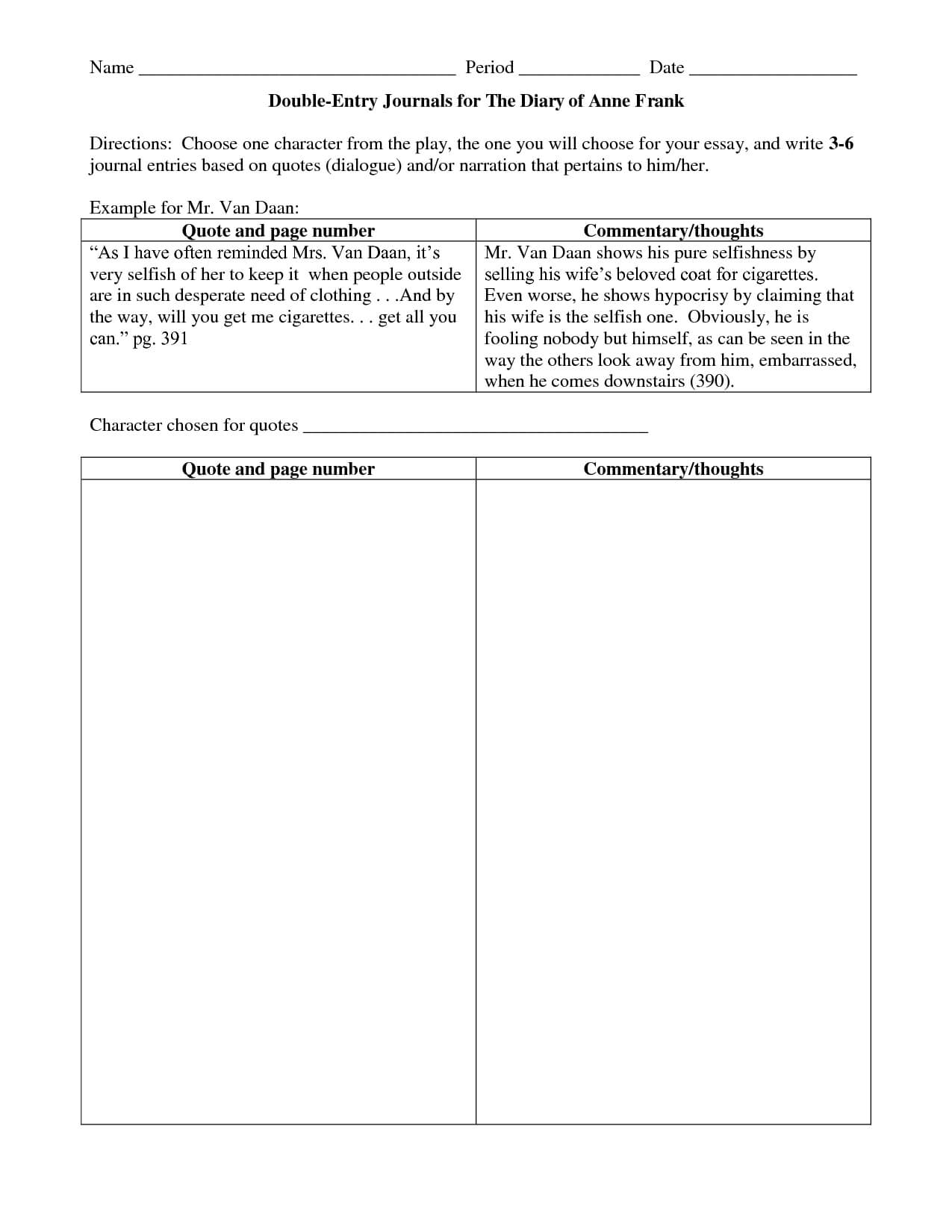 Double Entry Journals Examples | Double Entry Journal Regarding Double Entry Journal Template For Word
