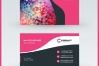 Double-Sided Horizontal Business Card Template within Advertising Card Template