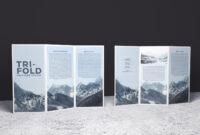 Double-Sided Tri-Fold Brochure Psd Mockup | Brochure Template in Double Sided Tri Fold Brochure Template