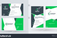 Doublesided Creative Business Card Template Portrait regarding Portrait Id Card Template