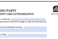 Download Best Western Credit Card Authorization Form inside Hotel Credit Card Authorization Form Template