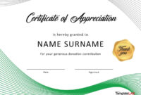Download Certificate Of Appreciation For Donation 01 inside Donation Certificate Template