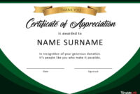 Download Certificate Of Appreciation For Donation 02 in Certificates Of Appreciation Template