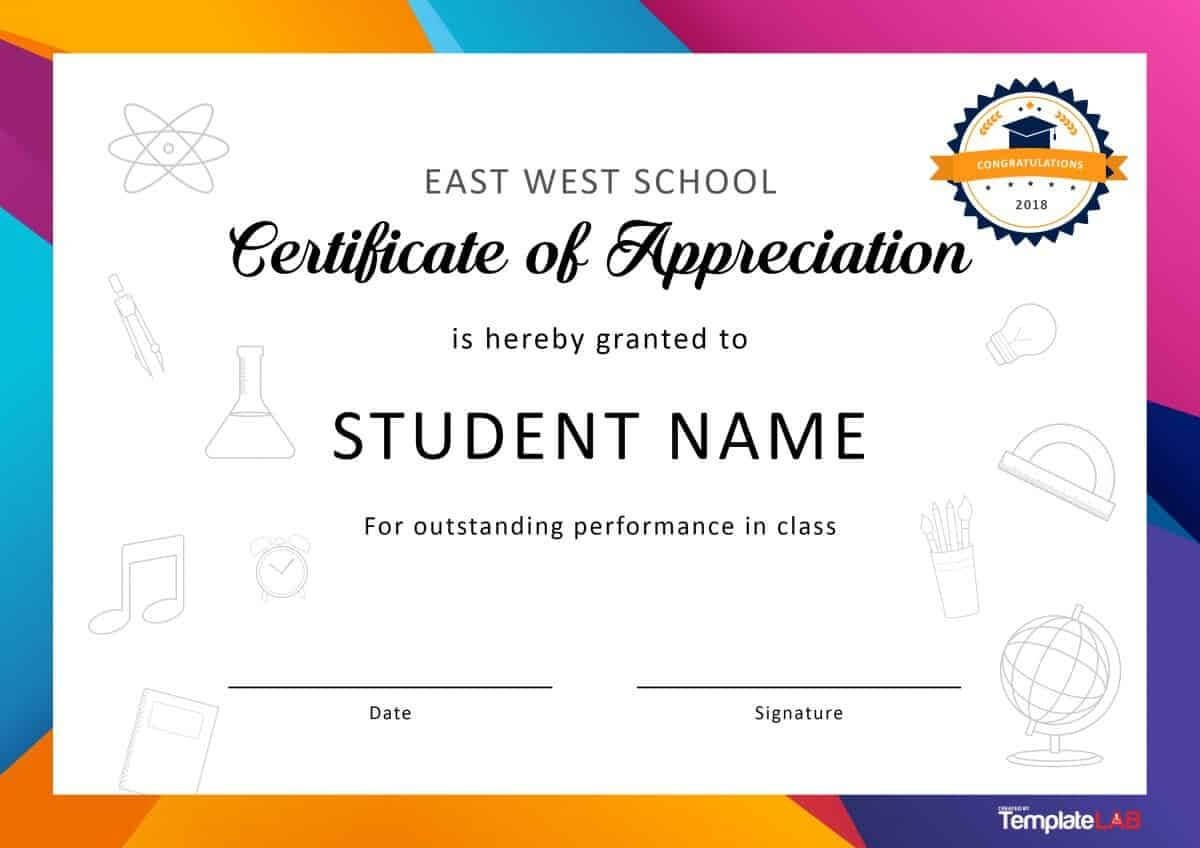 Download Certificate Of Appreciation For Students 01 Regarding Felicitation Certificate Template