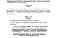 Download Corporate Bylaws Style 16 Template For Free At intended for Corporate Bylaws Template Word