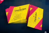 Download] Creative Business Card Free Psd | Psddaddy inside Photoshop Name Card Template