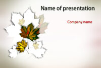Download Free Autumn Maple Powerpoint Template For Presentation in Free Fall Powerpoint Templates