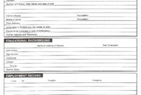 Download Free Blank Resume Forms Pdf | Biodata Format, Bio for Free Bio Template Fill In Blank