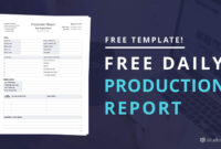 Download Free Daily Production Report Template in Wrap Up Report Template