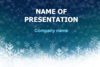 Download Free Deep Snow Powerpoint Template And Theme For throughout Snow Powerpoint Template