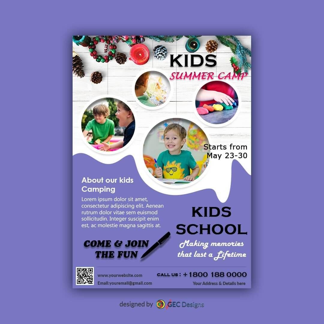 Download Free Flyer Templates   Summer Camps For Kids, Flyer Inside Summer Camp Brochure Template Free Download