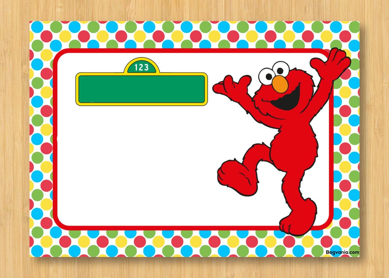 Download Free Printable Elmo Birthday Invitations | Elmo For Elmo Birthday Card Template