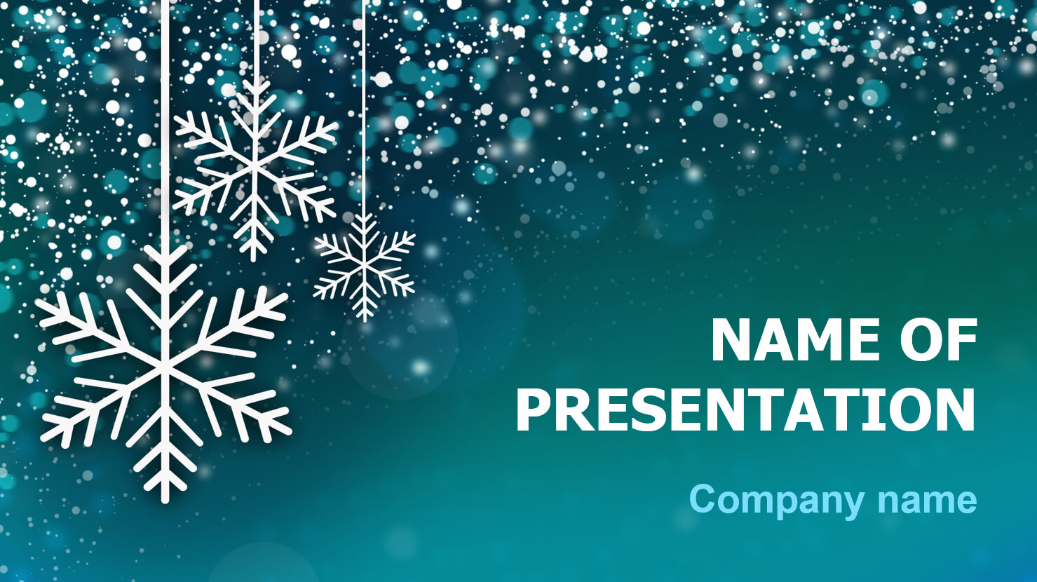 Download Free Snowing Snow Powerpoint Theme For Presentation Regarding Snow Powerpoint Template