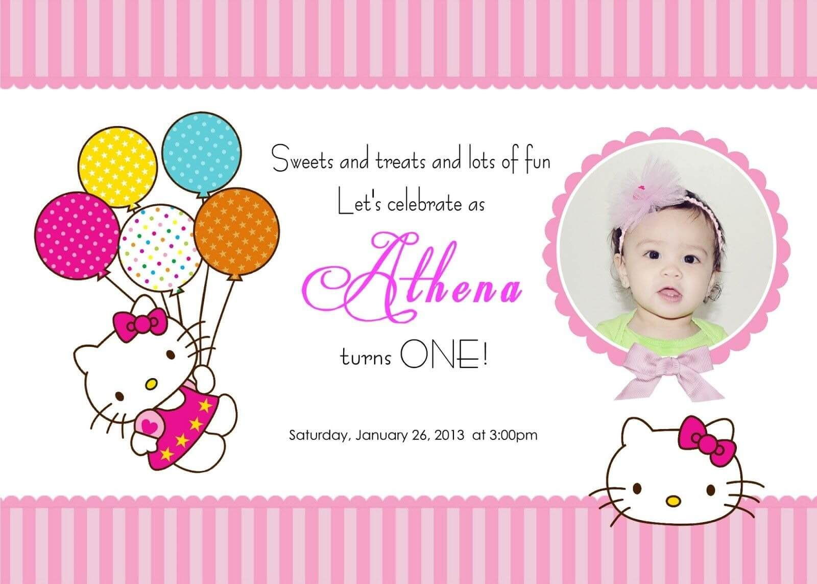 Download Free Template Hello Kitty Printable Birthday With Hello Kitty Birthday Card Template Free