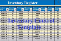 Download Inventory Control Excel Template – Exceldatapro for Stock Report Template Excel