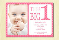 Download Now Free Printable 1St Birthday Invitations | 1St for First Birthday Invitation Card Template