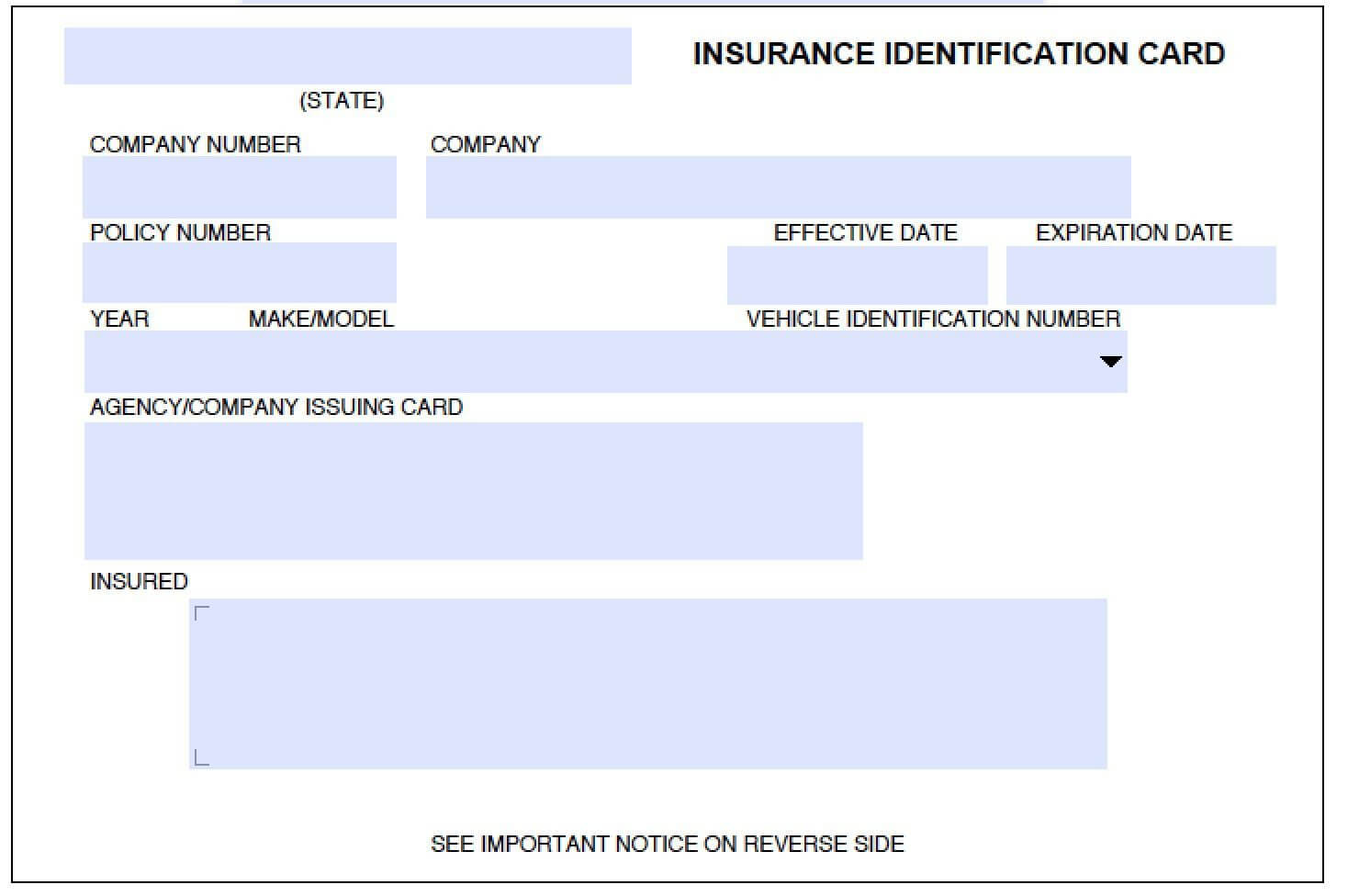 Download (Pdf) | Card Templates Free, Car Insurance In Auto Insurance Id Card Template