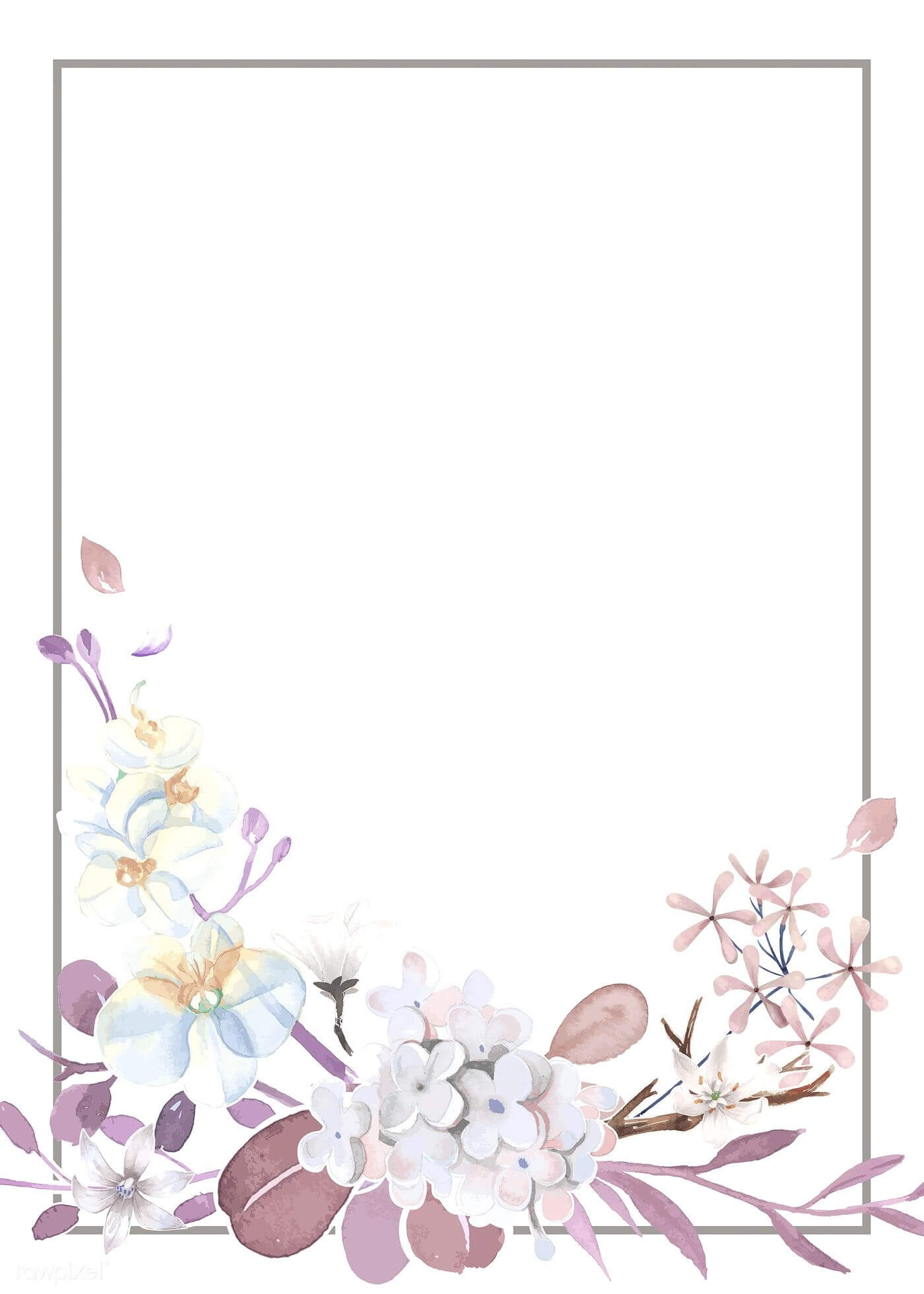 Download Premium Vector Of Purple And Pink Greeting Card With Regard To Free Printable Blank Greeting Card Templates