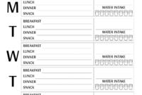 Download Printable Weekly Meal Plan Template Pdf in Blank Meal Plan Template