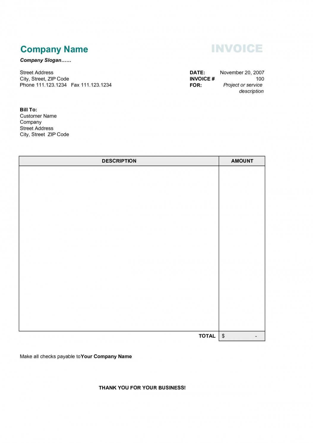 Download Proforma Invoice Template Word | Free Invoice Inside Free Proforma Invoice Template Word