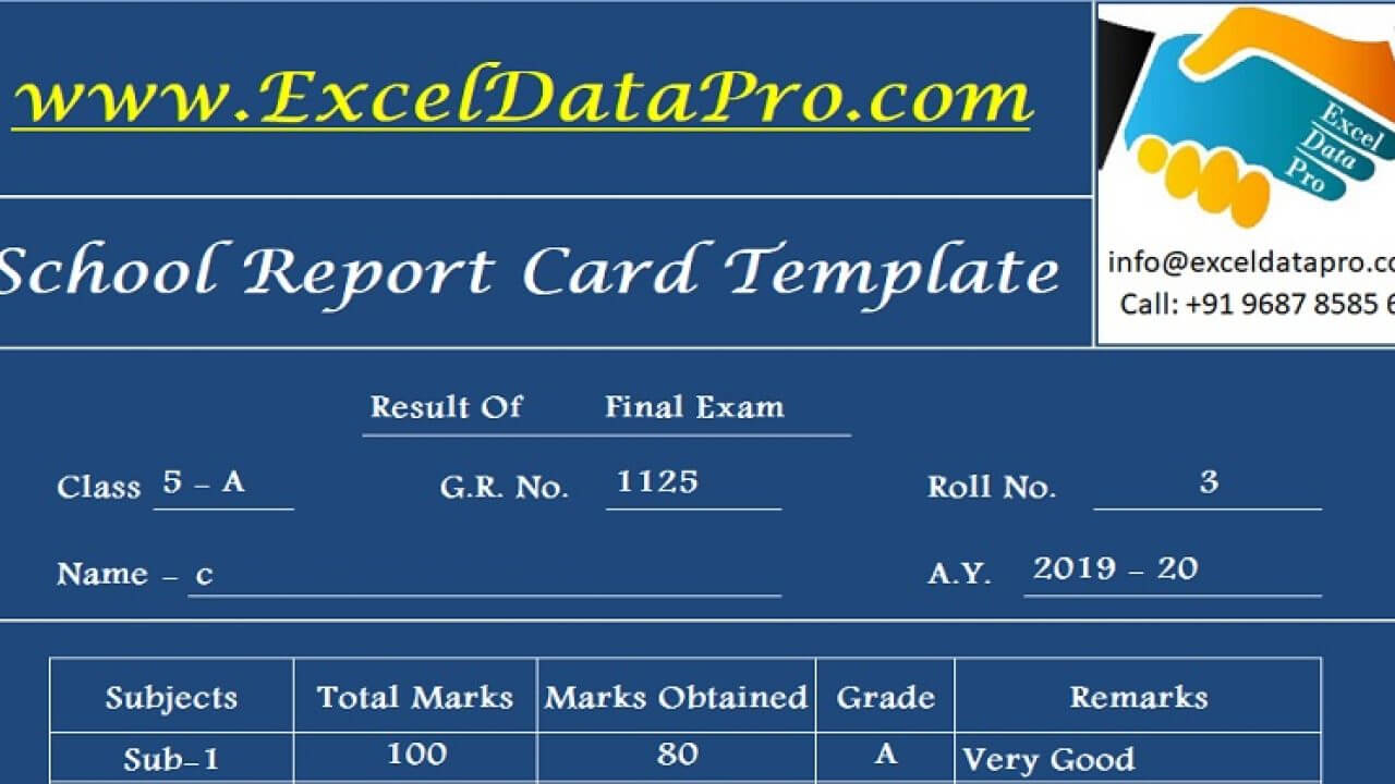 Download School Report Card And Mark Sheet Excel Template Pertaining To High School Student Report Card Template