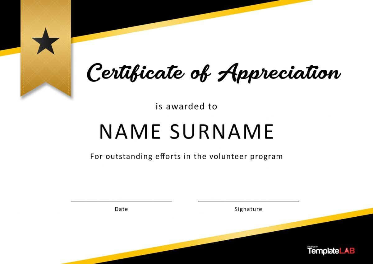 Download Volunteer Certificate Of Appreciation 02 Within Volunteer Certificate Templates