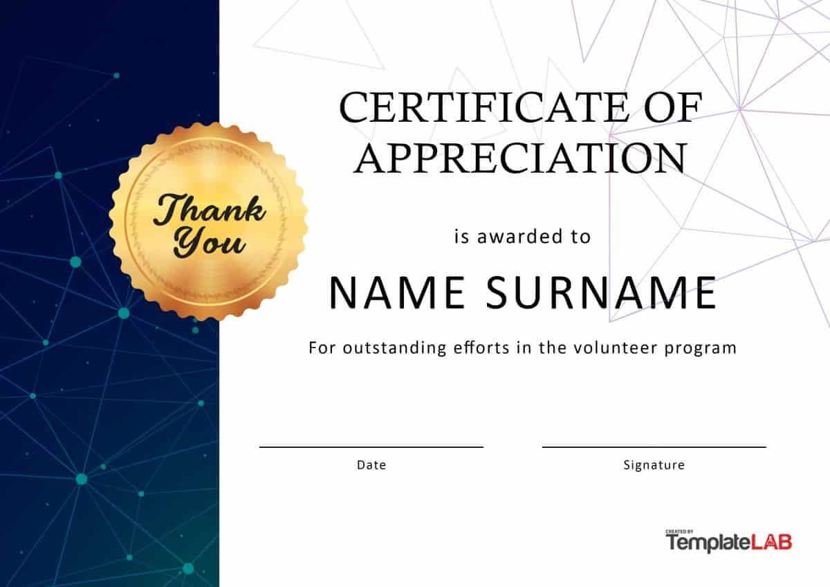 Download Volunteer Certificate Of Appreciation 03 Intended For Volunteer Certificate Template