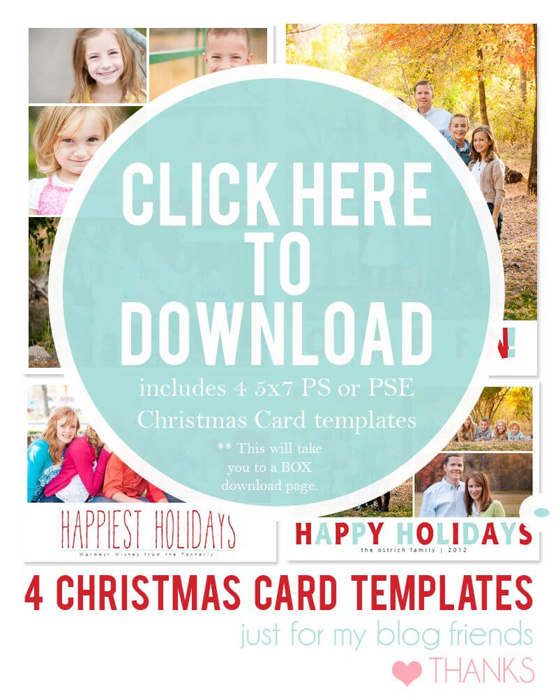 Downloadable Christmas Card Templates For Photos |  Free For Free Photoshop Christmas Card Templates For Photographers