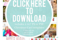 Downloadable Christmas Card Templates For Photos |  Free pertaining to Christmas Photo Card Templates Photoshop