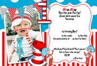 Dr.seuss 1St Birthday Invitation Template- Update regarding Dr Seuss Birthday Card Template