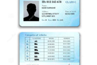 Driver License Illustration Stock Vector – Illustration Of with regard to Blank Drivers License Template