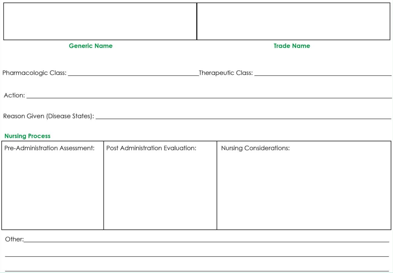 Drug Card Template | Drug Cards, Pharmacology Nursing Within Pharmacology Drug Card Template