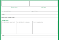 Drug Cards Template – Forza.mbiconsultingltd within Med Card Template