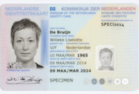 Dutch Identity Card – Wikipedia throughout Georgia Id Card Template