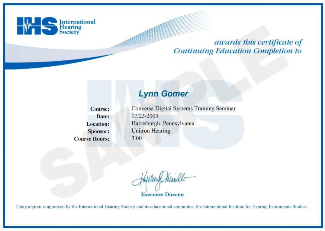 E Certificates Of Completion For Continuing Education With Regard To Continuing Education Certificate Template