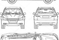 ᐈ Car Outlines Stock Drawings, Royalty Free Vehicle within Truck Condition Report Template