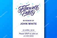 ᐈ We Will Miss You Banners Stock Images, Royalty Free inside Farewell Invitation Card Template