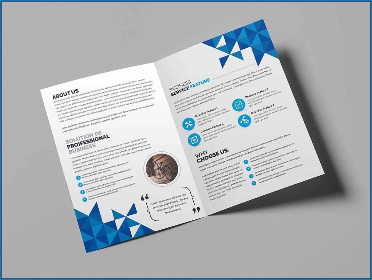 √ Free Printable Bi Fold Brochure Template | Templateral Within 2 Fold Brochure Template Free