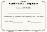 ❤️ Free Certificate Of Compliance Templates❤️ pertaining to Certificate Of Compliance Template