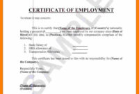 ❤️ Free Printable Certificate Of Employment Form Sample inside Small Certificate Template