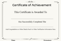 ❤️ Free Sample Certificate Of Achievement Template❤️ regarding Army Certificate Of Achievement Template